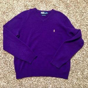 Polo Ralph Lauren 100% Lambs Wool vneck sweater